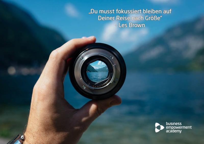 Der richtige Fokus gleicht einer Hebelwirkung